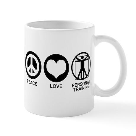 Peace Love Personal Training Mug