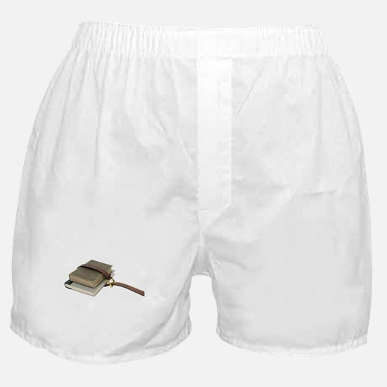 Old school books Boxer Shorts