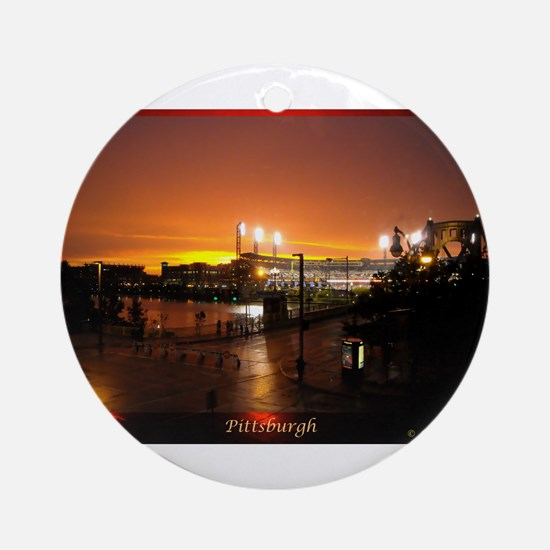 Pittsburgh Sunset Ornament (Round)