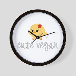 Cute Vegan Wall Clock