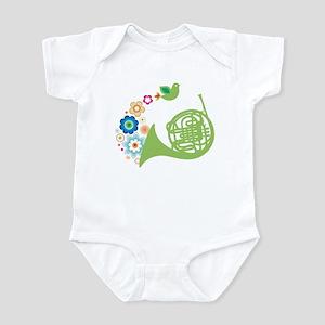 Retro Flower French Horn Infant Bodysuit