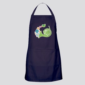 Retro Flower French Horn Apron (dark)