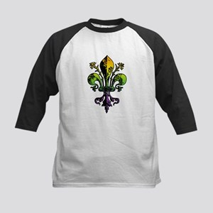 Antique Mardi Gras Fleur Kids Baseball Jersey