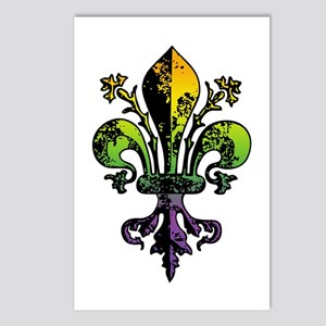Antique Mardi Gras Fleur Postcards (Package of 8)