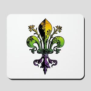 Antique Mardi Gras Fleur Mousepad
