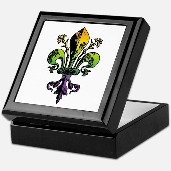 Antique Mardi Gras Fleur Keepsake Box