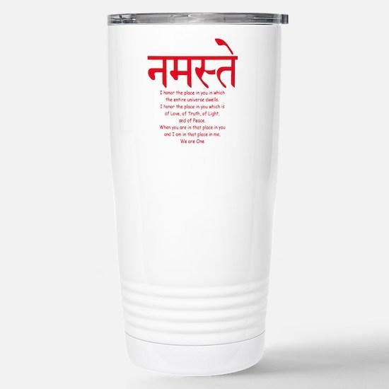 namaste we are one Stainless Steel Travel Mug