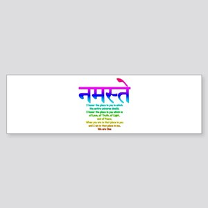 namaste we are one Bumper Sticker