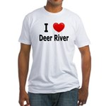 I Love Deer River Fitted T-Shirt