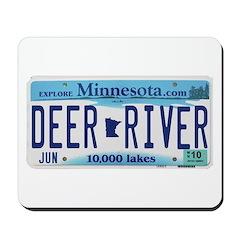 Deer River License Plate Mousepad