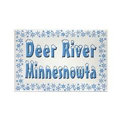 Deer River Minnesnowta Rectangle Magnet