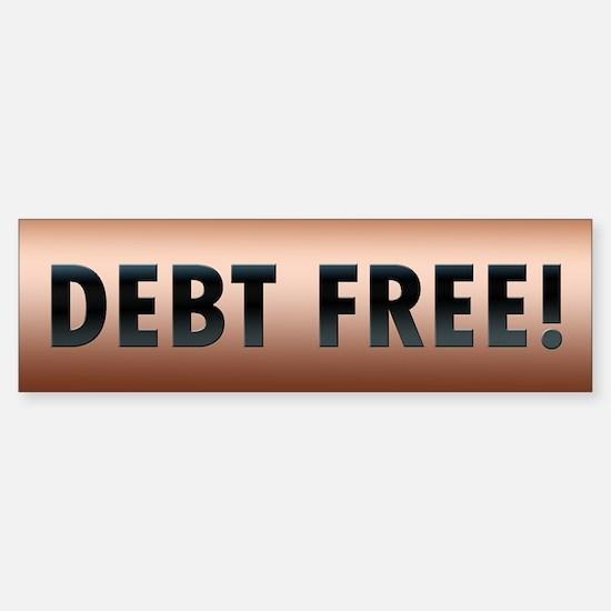 Debt Free! Sticker (Bumper)