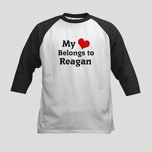 My Heart: Reagan Kids Baseball Jersey