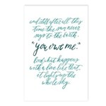 You owe me Postcards (Package of 8)