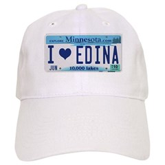 Edina License Plate Baseball Cap