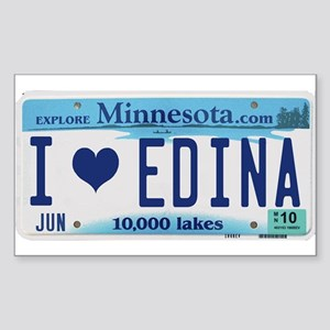 Edina License Plate Rectangle Sticker