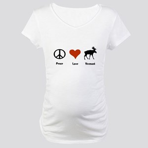Peace Love Vermont Maternity T-Shirt