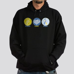 Peace Love Down syn hope Hoodie (dark)