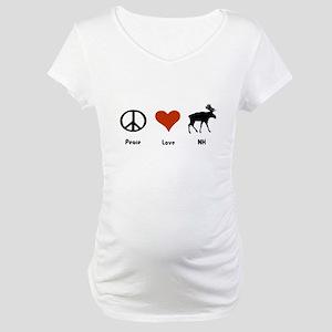 Peace Love New Hampshire Maternity T-Shirt