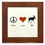 Peace Love New Hampshire Framed Tile