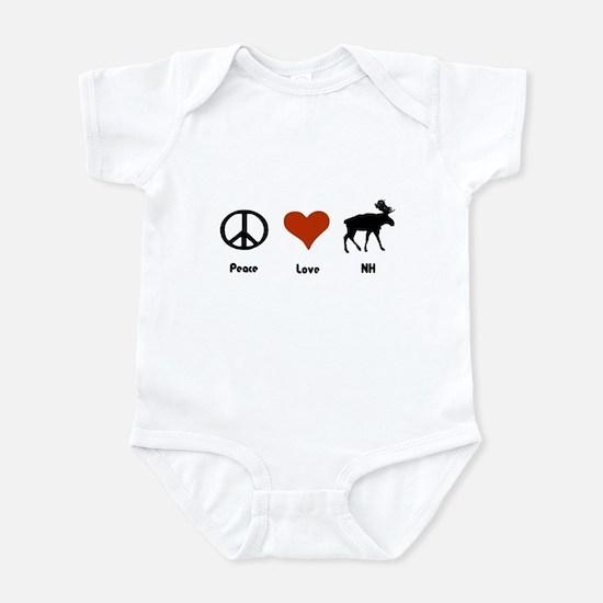 Peace Love New Hampshire Infant Bodysuit