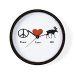 Peace Love New Hampshire Wall Clock