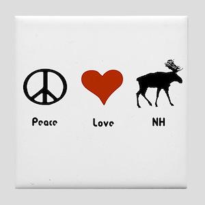 Peace Love New Hampshire Tile Coaster