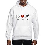 Peace Love New Hampshire Hooded Sweatshirt