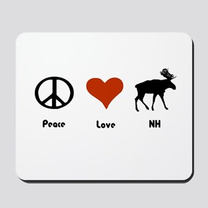 Peace Love New Hampshire Mousepad