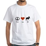 Peace Love New Hampshire White T-Shirt