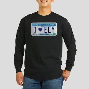 Ely License Plate Long Sleeve Dark T-Shirt
