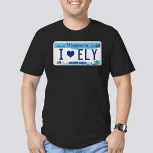 Ely License Plate Men's Fitted T-Shirt (dark)