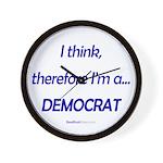 """""""I Think"""" Wall Clock"""