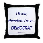 """I Think"" Throw Pillow"