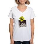 Fit baby - dumbell Women's V-Neck T-Shirt