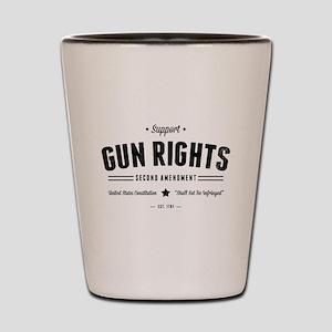 Support Gun Rights Shot Glass