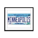 Minneapolis License Framed Panel Print