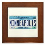 Minneapolis License Framed Tile