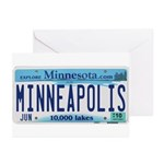 Minneapolis License Greeting Cards (Pk of 10)