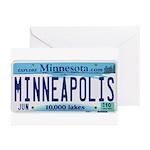 Minneapolis License Greeting Cards (Pk of 20)