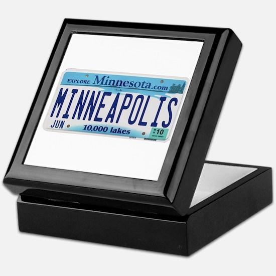 Minneapolis License Keepsake Box