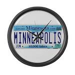 Minneapolis License Large Wall Clock