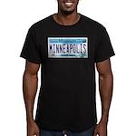 Minneapolis License Men's Fitted T-Shirt (dark)
