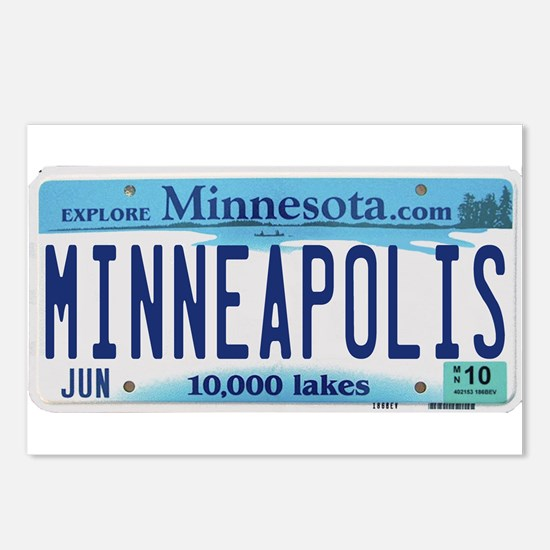 Minneapolis License Postcards (Package of 8)