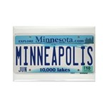Minneapolis License Rectangle Magnet