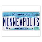 Minneapolis License Small Poster