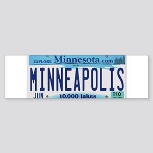 Minneapolis License Sticker (Bumper)