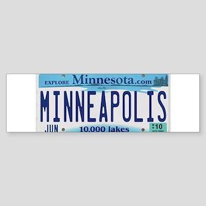 Minneapolis License Sticker (Bumper)