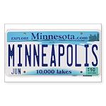 Minneapolis License Sticker (Rectangle 10 pk)