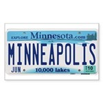 Minneapolis License Sticker (Rectangle 50 pk)
